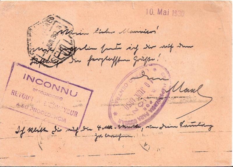 """Südamerikafahrt 1930 (Rundfahrt-) Post nach Friedrichshafen"""" - Seite 4 Scanne12"""
