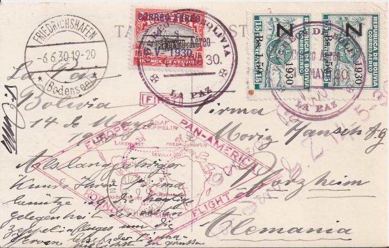 """Südamerikafahrt 1930 (Rundfahrt-) Post nach Friedrichshafen"""" - Seite 6 Scanne16"""