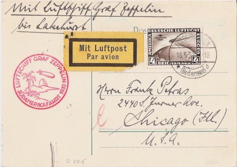 """Südamerikafahrt 1930 (Rundfahrt-) Post nach Friedrichshafen"""" - Seite 5 Sieger12"""