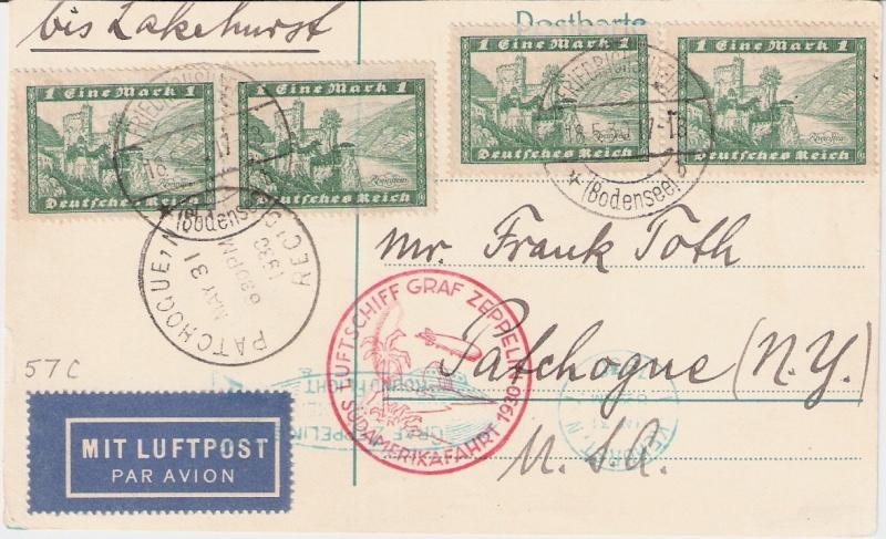 """Südamerikafahrt 1930 (Rundfahrt-) Post nach Friedrichshafen"""" - Seite 5 Sieger13"""