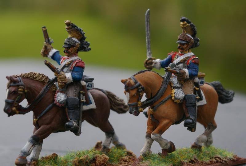 LES CUIRASSIERS  chargent a la bataille  QUATRE- BRAS 00210