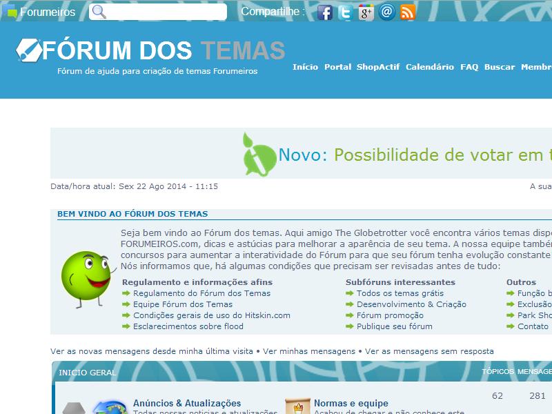 Fórum dos Temas | Fórum de discussão e compartilhamento de temas - Portal Theme10