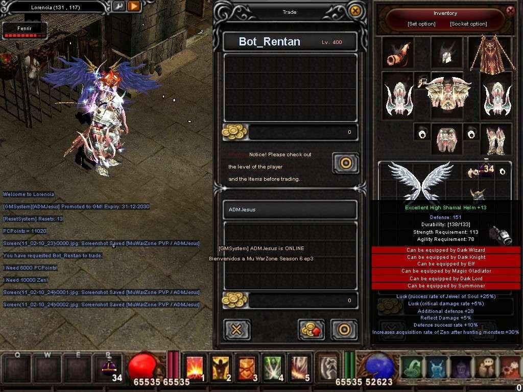 Como usar el Bot_Reintar (Alquimista) Mu Warzone s6 epi 3.5 Screen15