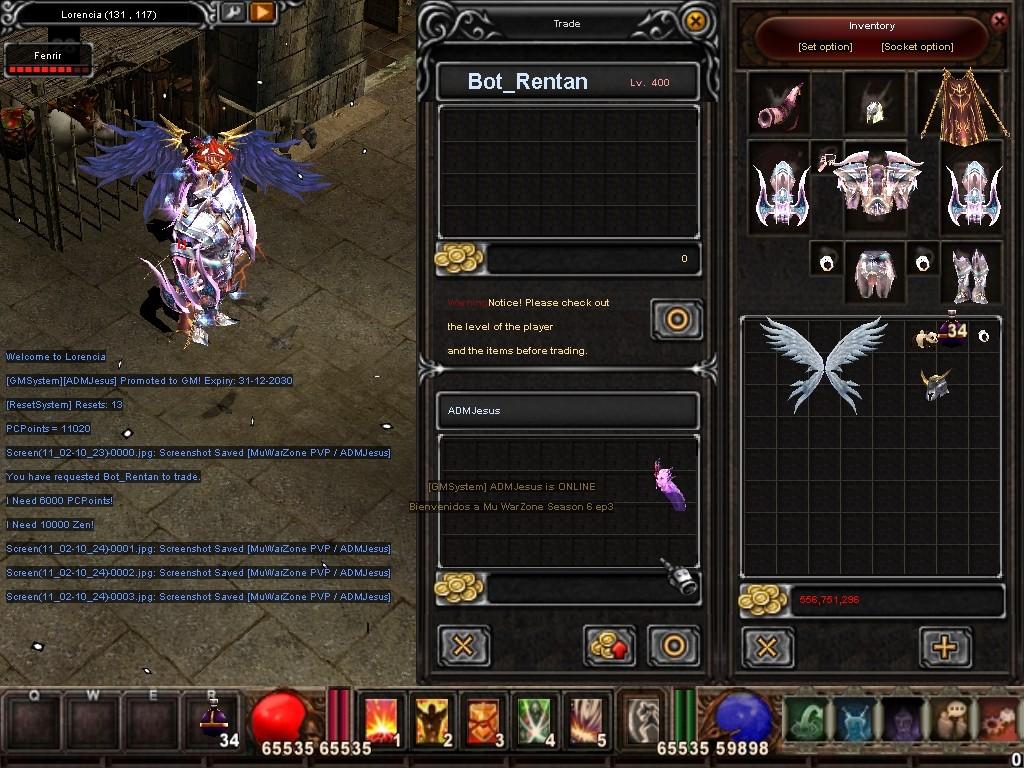 Como usar el Bot_Reintar (Alquimista) Mu Warzone s6 epi 3.5 Screen16