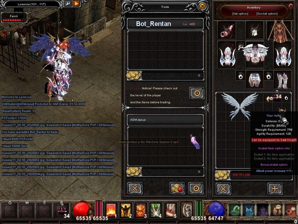 Como usar el Bot_Reintar (Alquimista) Mu Warzone s6 epi 3.5 Screen17
