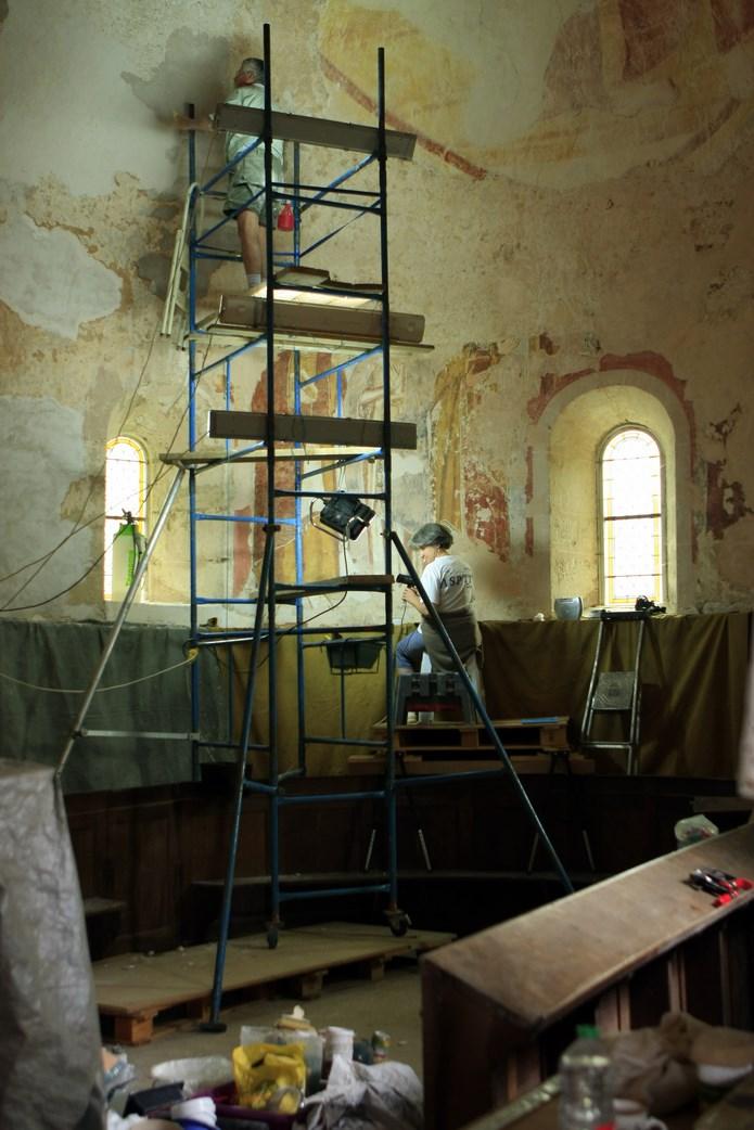 Inauguration de la peinture murale Eglise de la Chapelle-sous-Brancion  00112