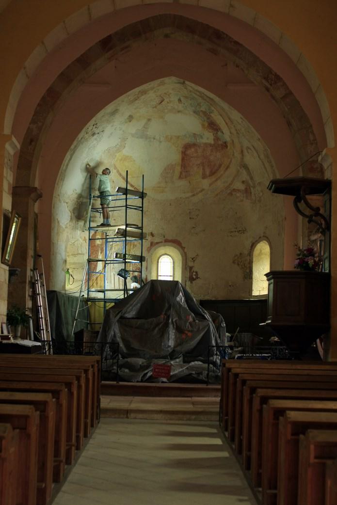 Inauguration de la peinture murale Eglise de la Chapelle-sous-Brancion  00212