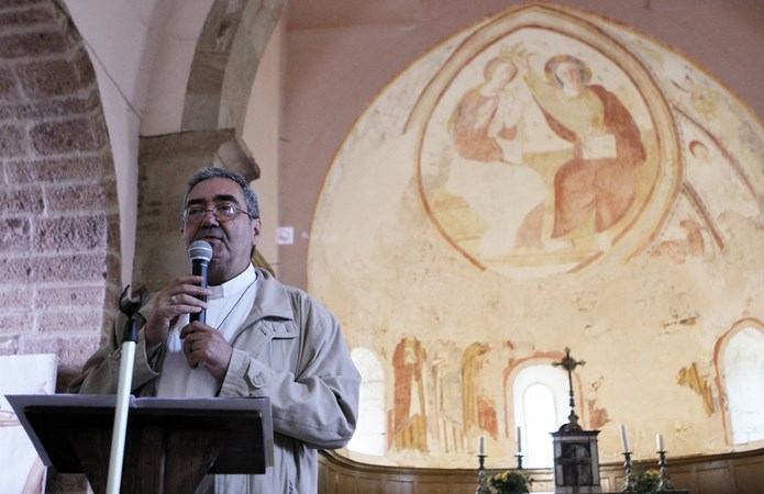 Inauguration de la peinture murale Eglise de la Chapelle-sous-Brancion  00413