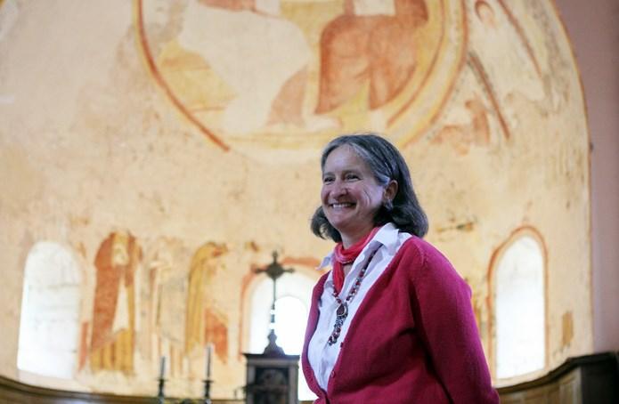 Inauguration de la peinture murale Eglise de la Chapelle-sous-Brancion  00813