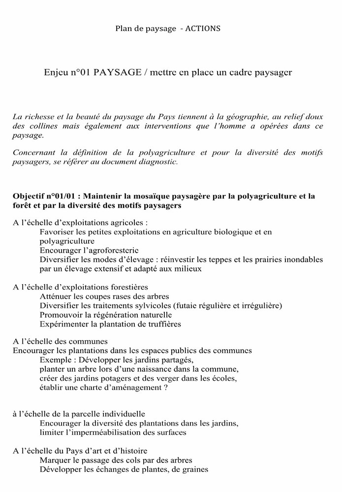 PLAN de PAYSAGE (ACTIONS) document d'études 2-1_co10