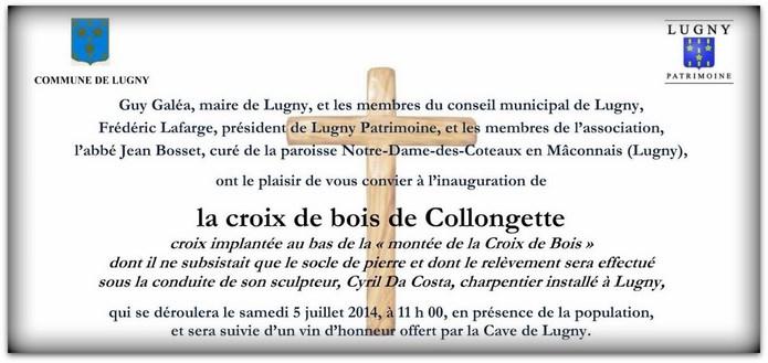 Inauguration de la croix de bois de Collongette Lugny_13