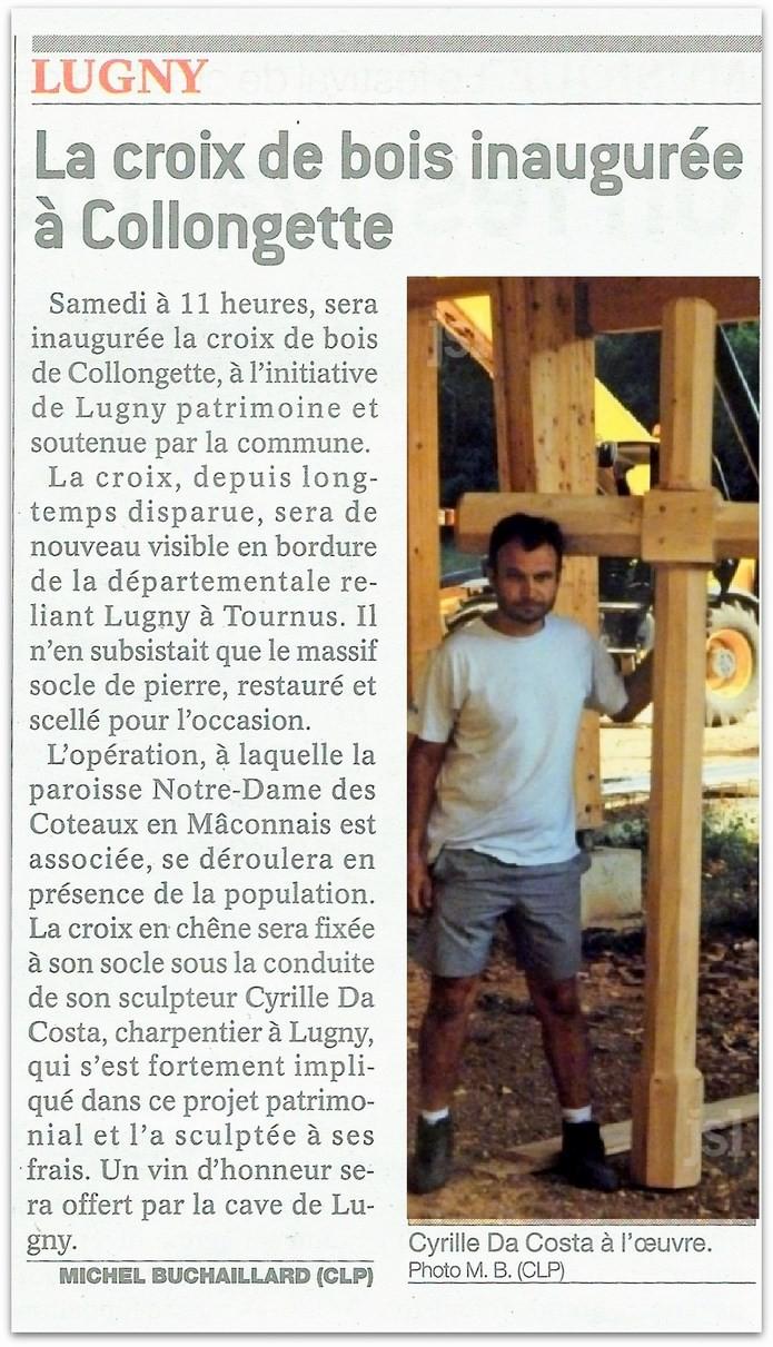 Relèvement de la croix de bois du hameau de Collongette Lugny_20