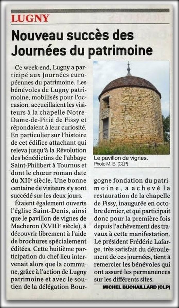 LUGNY, Nouveau succès des Journées du patrimoine 2014 Lugny_26
