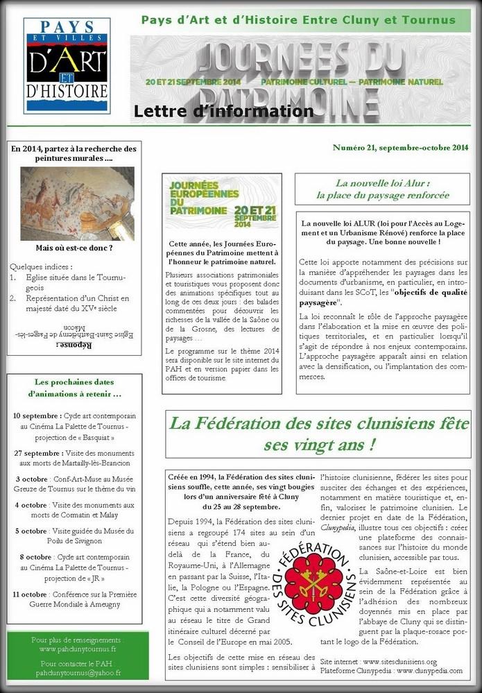 Newsletter du PAH N°21 Newsle10