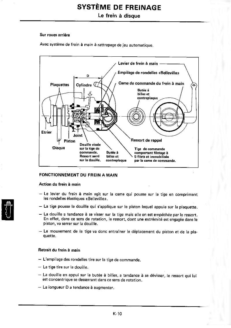 Changement plaquettes frein arrière K10_mr11