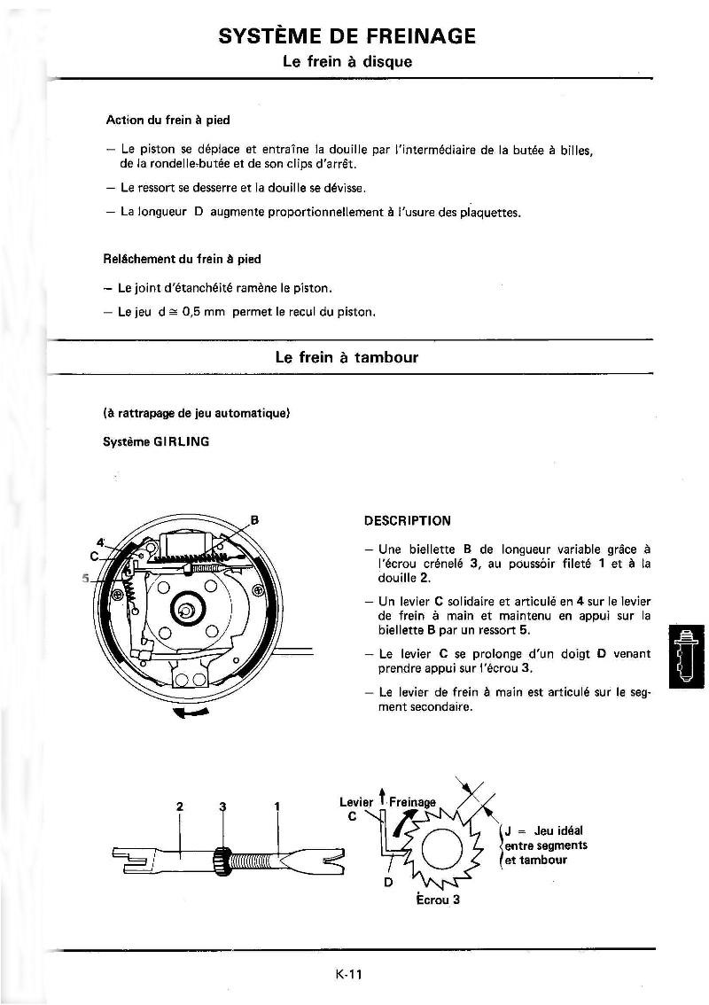 Changement plaquettes frein arrière K11_mr10