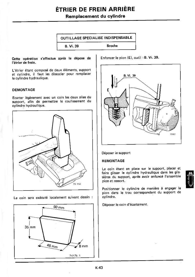 Changement plaquettes frein arrière K43_mr10
