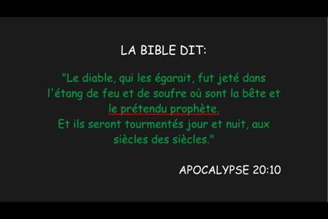 Qui est le prétendu prophéte jeté en enfer ?  10603710