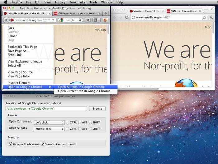 Open In Chrome 1.5.2 - Ανοίξτε καρτέλες από τον Firefox στο Google Chrome 7121210