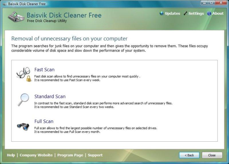 Baisvik Disk Cleaner Free 1.2.8.185 Baisvi10