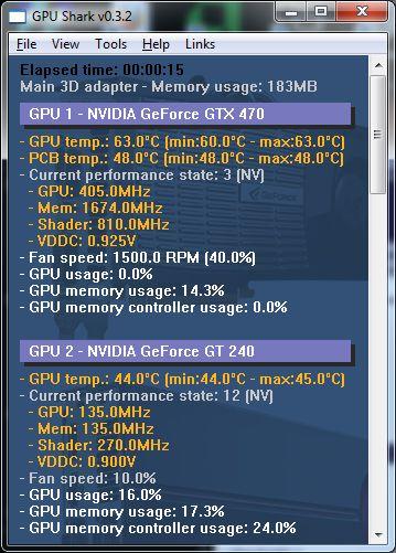 GPU Shark 0.9.10.3 - Παρακολουθήστε τις κάρτες γραφικών GeForce και Randeon Gpusha10