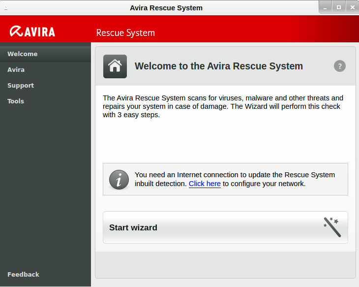 Avira Rescue System Ver: Sep 29, 2015 Rs_wel10