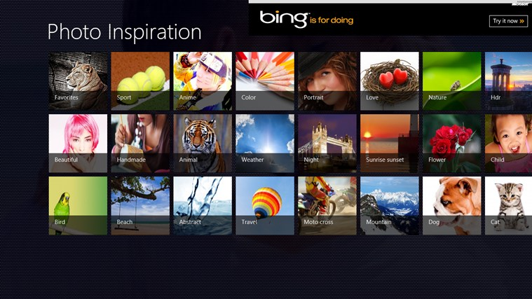 Photo Inspiration 2.0.0.8 - Παρέχει μια συλλογή από wallpapers για την οθόνη κλειδώματος Screen22