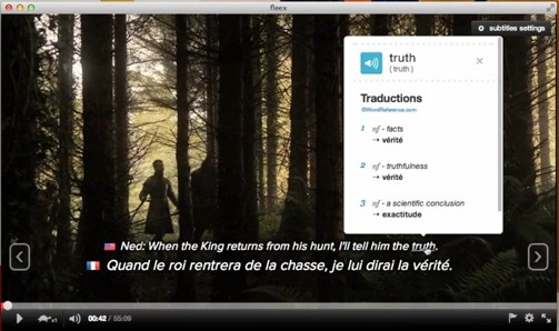 fleex 2.4.0 - Παρακολουθήστε ταινίες και μάθετε αγγλικά ταυτόχρονα! Screen44