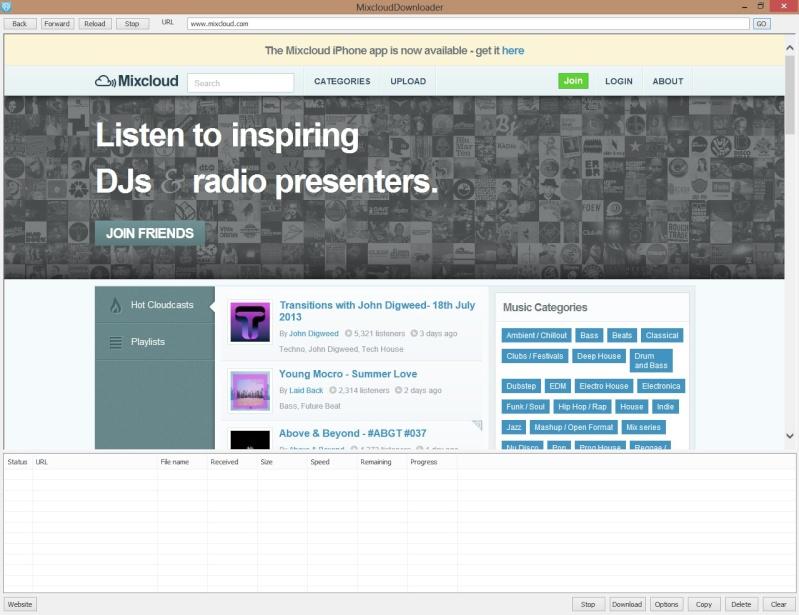 Mixcloud Downloader 1.11 - Κατεβάστε mixes και podcasts από το Mixcloud Screen49