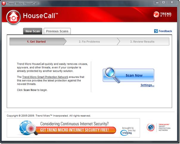 Trend Micro HouseCall 8.0 - Εντοπίστε και αφαιρέστε τα κακόβουλα λογισμικά Trendm10