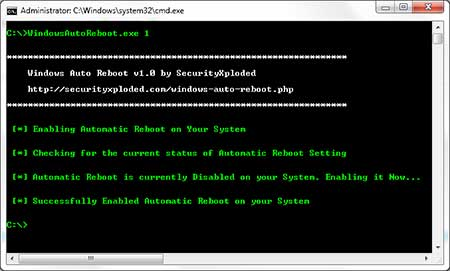 Windows Auto Reboot 1.5 Window18