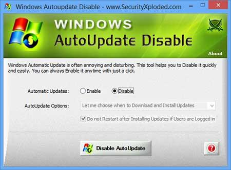 Windows AutoUpdate Disable 2.0 - Aπενεργοποιήσετε γρήγορα τις αυτόματες ενημερώσεις των Windows Window20