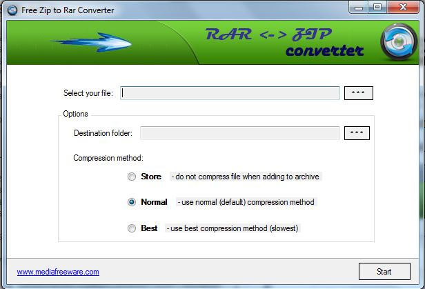 Free Zip to Rar Converter 1.0.0  Ziptor10