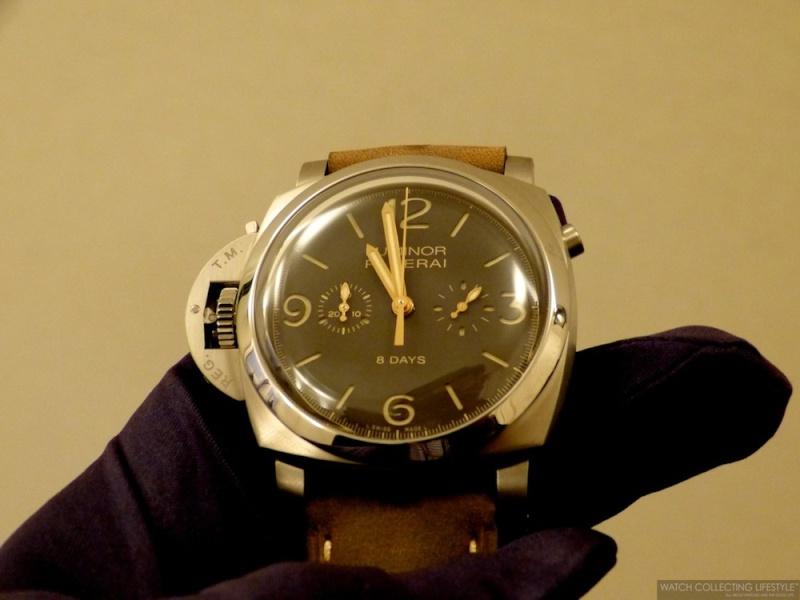 Panerai chronographe Monopoussoir pour gaucher L1220710