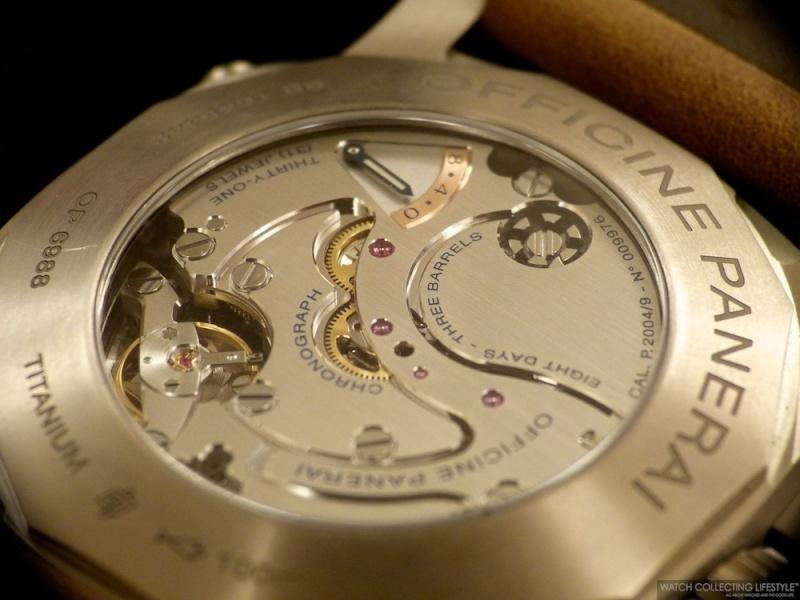 Panerai chronographe Monopoussoir pour gaucher L1220712
