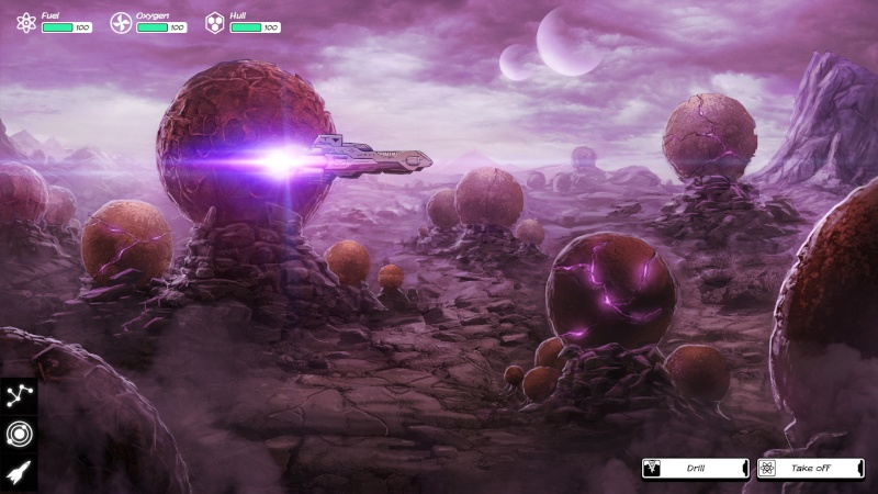Discover the new graphics of Out There : Ω Edition, soon on PC and mobiles ! Landin10
