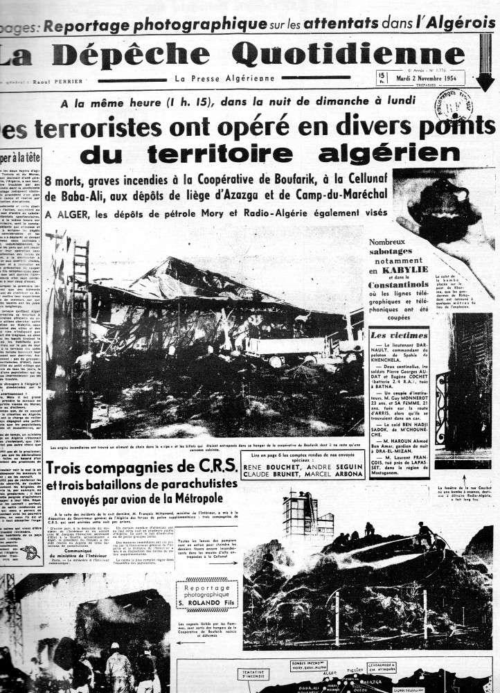 ALGERIE PRESSE 1954 - (3 journaux en tout)  COMPLET. 110
