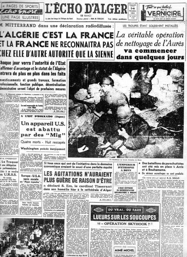 ALGERIE PRESSE 1954 - (3 journaux en tout)  COMPLET. 111