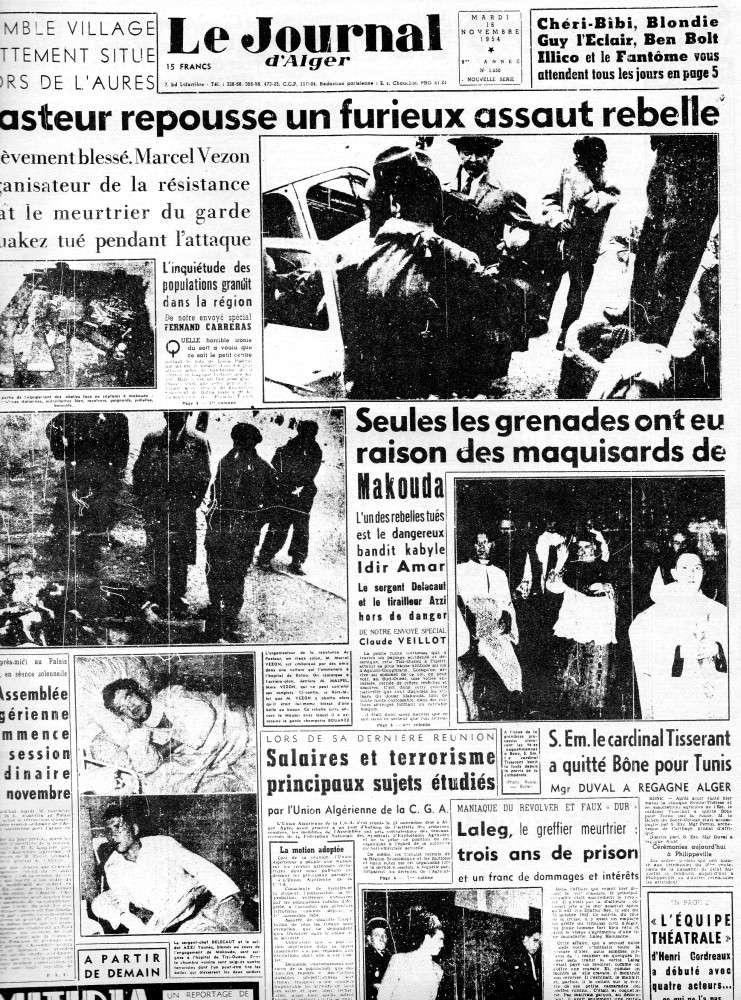 ALGERIE PRESSE 1954 - (3 journaux en tout)  COMPLET. 112