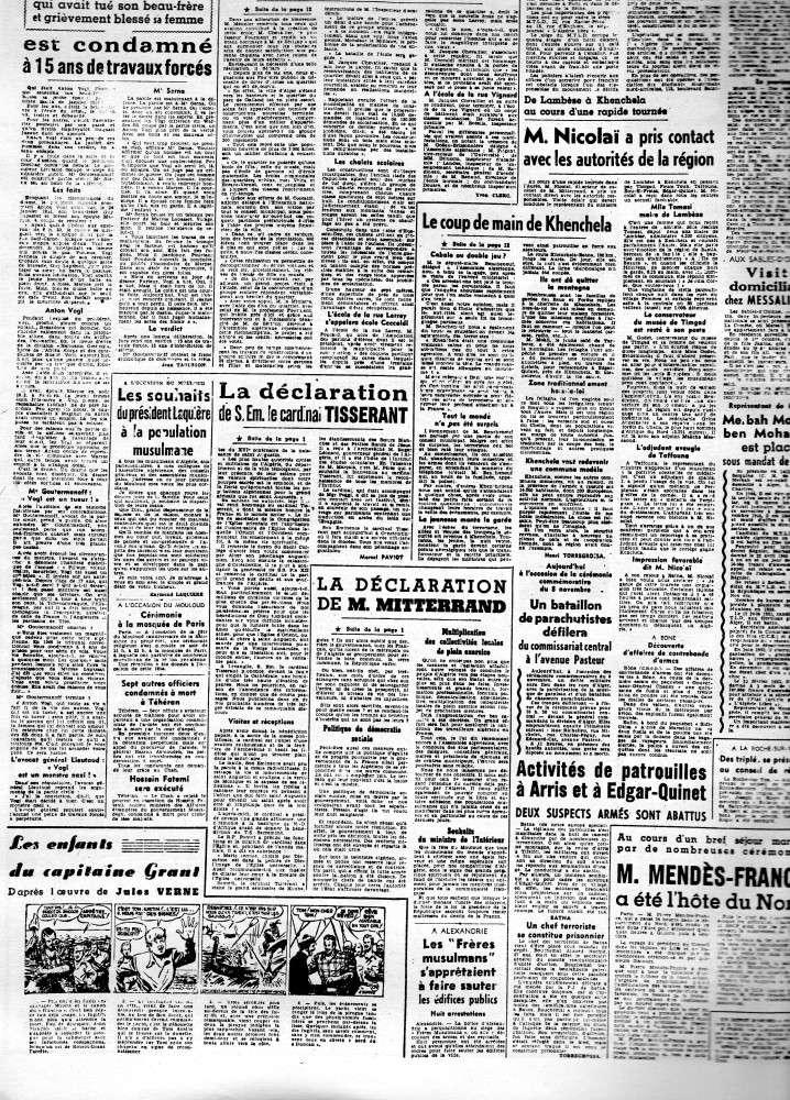 ALGERIE PRESSE 1954 - (3 journaux en tout)  COMPLET. 211