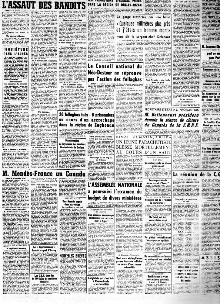 ALGERIE PRESSE 1954 - (3 journaux en tout)  COMPLET. 213