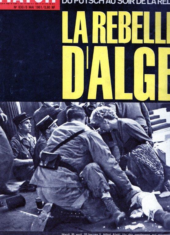A LA UNE DE PARIS-MATCH DU 6 MAI 1961   1ére partie Img06811