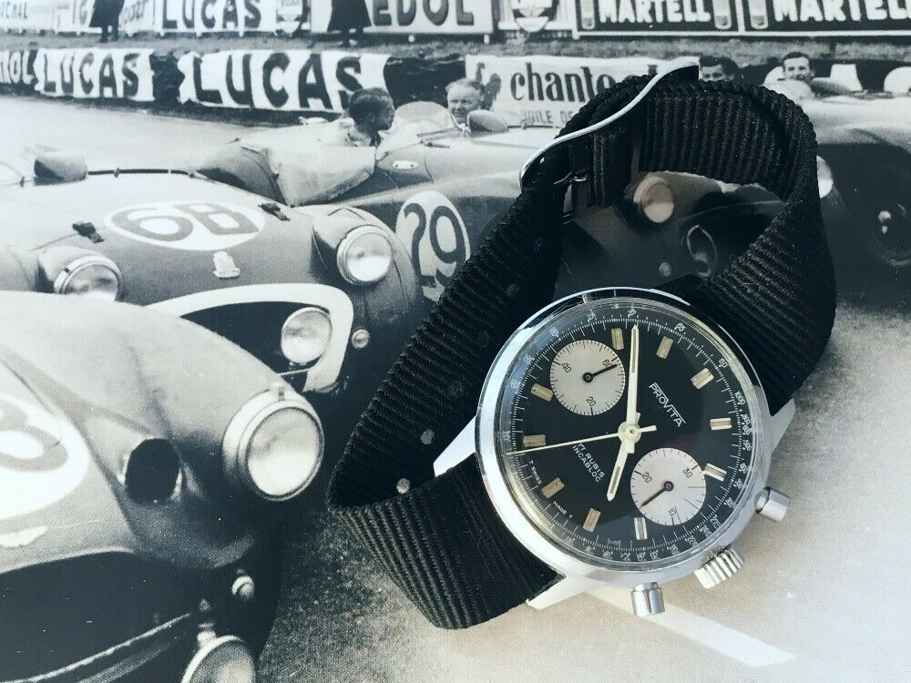 "[Vends] ca.1960 Chronographe Provita ""Poor Mans Heuer Carrera"" Panda - 650 € S-l16010"