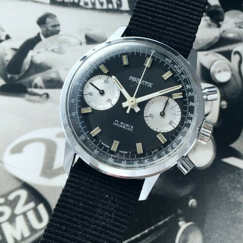 "[Vends] ca.1960 Chronographe Provita ""Poor Mans Heuer Carrera"" Panda - 650 € S-l50010"