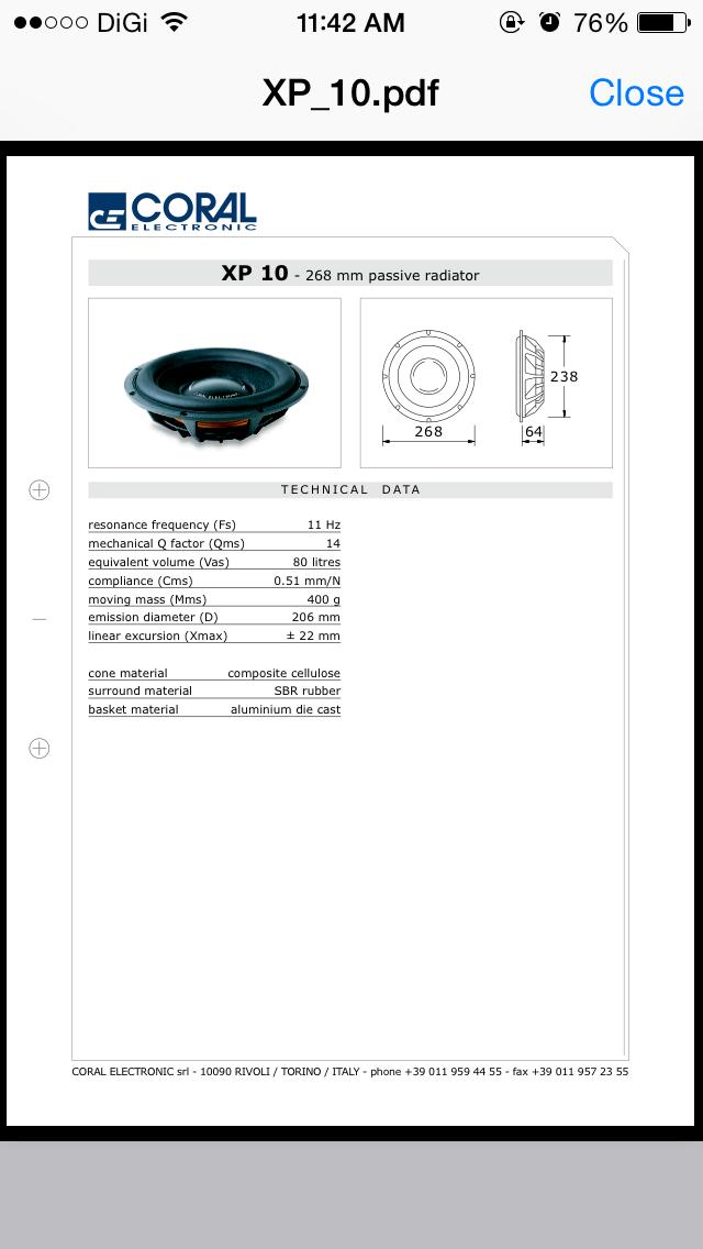 Coral Electronic Passive Radiotor Img_3510