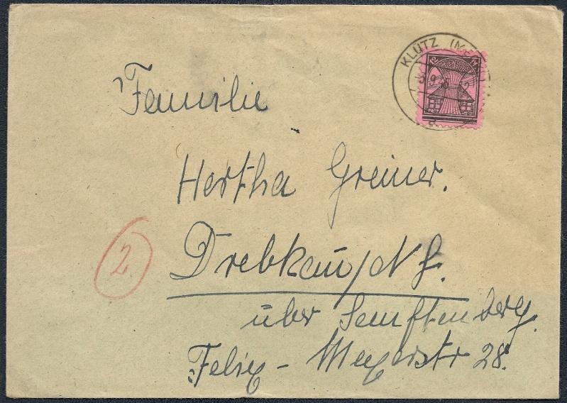 Deutsches Reich - Belege aus September 1945 1945-010