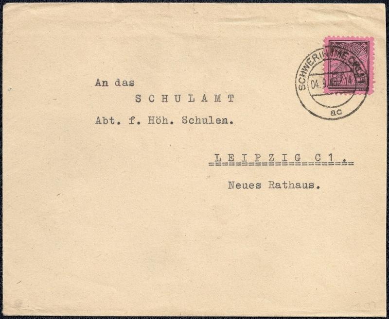 Deutsches Reich - Belege aus September 1945 1945-012