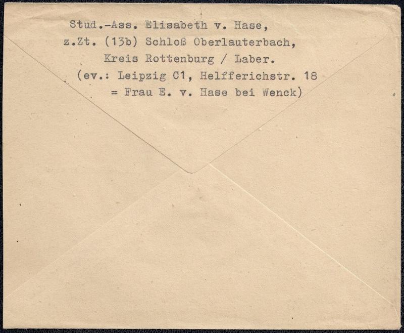 Deutsches Reich - Belege aus September 1945 1945-013