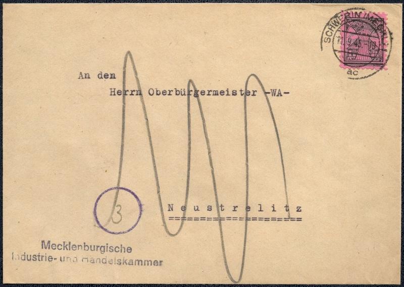 Deutsches Reich - Belege aus September 1945 1945-016