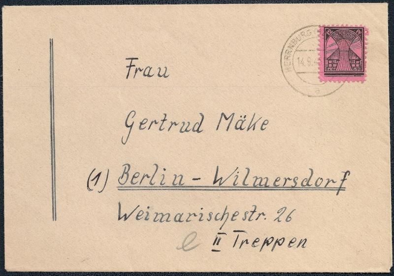Deutsches Reich - Belege aus September 1945 1945-021